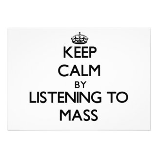 Behalten Sie Ruhe indem Sie zur MASSE hören Individuelle Ankündigskarten