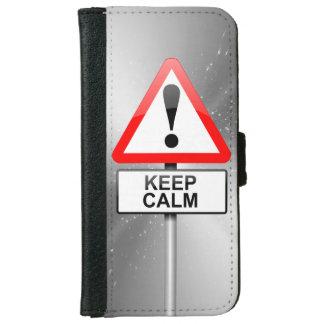 Behalten Sie Ruhe iPhone 6/6s Geldbeutel Hülle
