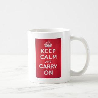 Behalten Sie Ruhe Kaffeetasse