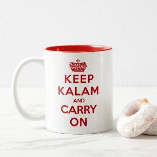 Behalten Sie Ruhe-/Kalam Apologetics-Kaffee-Tasse Zweifarbige Tasse