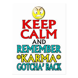 Behalten Sie Ruhe -- Karma Postkarte