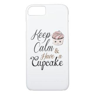 Behalten Sie Ruhe, kleinen Kuchen Kawaii zu essen iPhone 8/7 Hülle