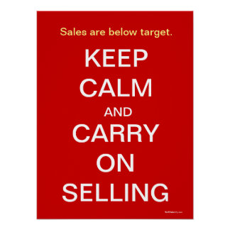 Behalten Sie Ruhe lustigen, Verkaufs-Slogan zu Poster