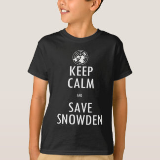 Behalten Sie Ruhe, Snowden Dunkelheits-Shirt zu T-Shirt
