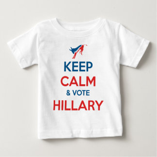 Behalten Sie Ruhe u. Abstimmung Hillary Baby T-shirt