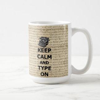 Behalten Sie Ruhe u. Art an Kaffeetasse