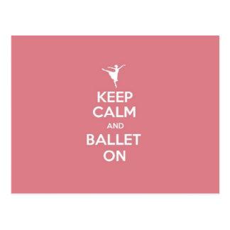 Behalten Sie Ruhe u. Ballett an Postkarte