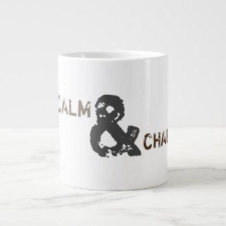 Behalten Sie Ruhe u. Chaga auf Tasse Extragroße Tassen