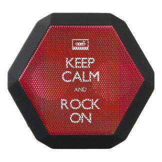 Behalten Sie Ruhe u. Felsen auf Bluetooth Schwarze Bluetooth Lautsprecher