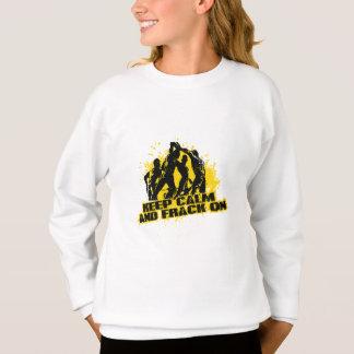 Behalten Sie Ruhe u. Frack an Sweatshirt