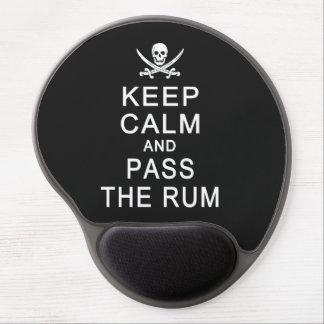 Behalten Sie Ruhe u. führen Sie das Rum mousepad Gel Mouse Pads