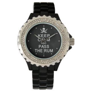 Behalten Sie Ruhe u. führen Sie die Rumuhren Armbanduhr