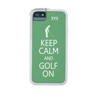Behalten Sie Ruhe u. Golf auf kundenspezifischen Hülle Für iPhone 5S