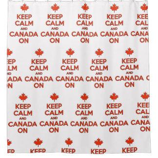 Behalten Sie Ruhe u. Kanada an in der Dusche;) Duschvorhang