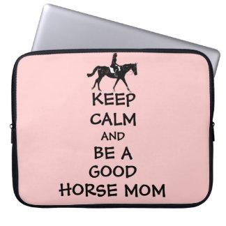 Behalten Sie Ruhe u. seien Sie eine gute Pferdemam Laptop Computer Schutzhüllen