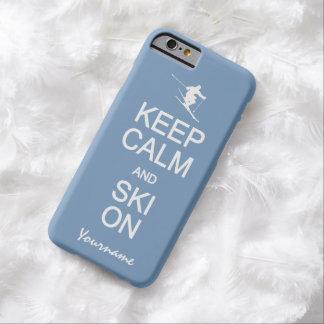 Behalten Sie Ruhe u. Ski auf kundenspezifischen Barely There iPhone 6 Hülle