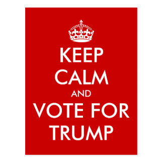 Behalten Sie Ruhe und Abstimmung für DONALD- Postkarte