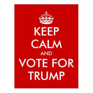 Behalten Sie Ruhe und Abstimmung für DONALD- Postkarten
