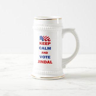 Behalten Sie Ruhe und Abstimmung Jindal Bierglas