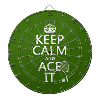 Behalten Sie Ruhe und Ace sie (Tennis) (in Dartscheibe