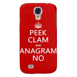 Behalten Sie Ruhe und Anagramm auf (in irgendeiner Galaxy S4 Hülle