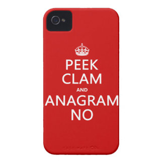 Behalten Sie Ruhe und Anagramm auf (in irgendeiner iPhone 4 Hüllen