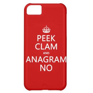 Behalten Sie Ruhe und Anagramm auf (in irgendeiner iPhone 5C Hülle