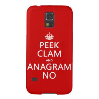 Behalten Sie Ruhe und Anagramm auf (in irgendeiner Samsung S5 Cover