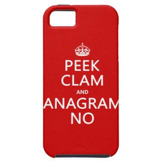 Behalten Sie Ruhe und Anagramm auf (in irgendeiner Tough iPhone 5 Hülle