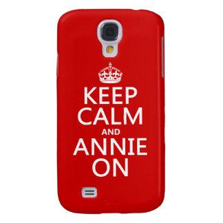 Behalten Sie Ruhe und Annie an Galaxy S4 Hülle