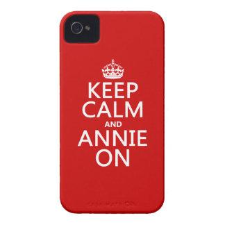 Behalten Sie Ruhe und Annie an iPhone 4 Cover