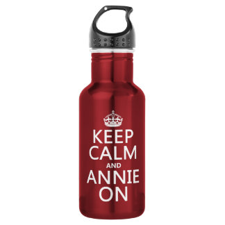 Behalten Sie Ruhe und Annie an Trinkflasche