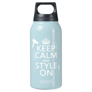 Behalten Sie Ruhe und Art auf (irgendeine Isolierte Flasche