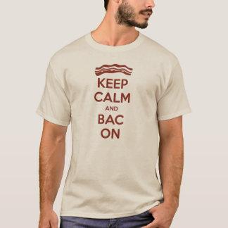 Behalten Sie Ruhe und BAC auf T - Shirt