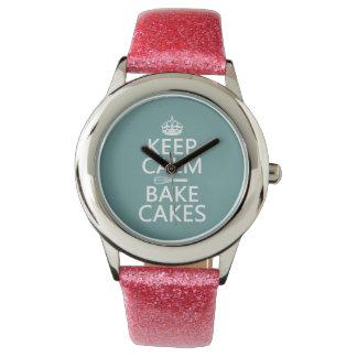 Behalten Sie Ruhe und backen Sie Kuchen Uhr