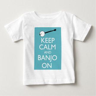 Behalten Sie Ruhe und Banjo an! Baby T-shirt