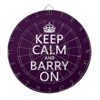 Behalten Sie Ruhe und Barry auf (irgendeine Farbe) Dartscheibe