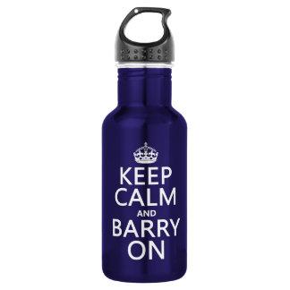 Behalten Sie Ruhe und Barry auf (irgendeine Farbe) Trinkflasche