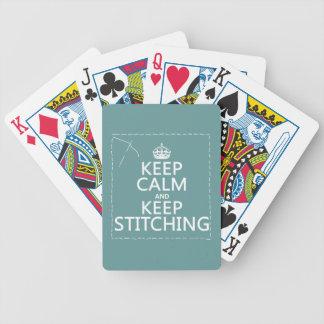 Behalten Sie Ruhe und behalten Sie das Nähen (alle Bicycle Spielkarten
