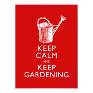 Behalten Sie Ruhe und behalten Sie des im Garten 16,5 X 22,2 Cm Einladungskarte