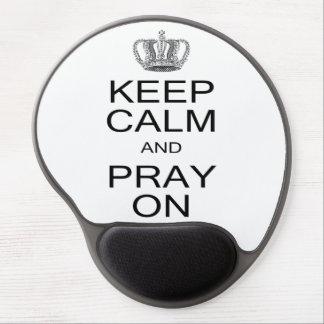 Behalten Sie Ruhe und beten Sie auf Inspiration Gel Mouse Pads