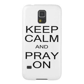 Behalten Sie Ruhe und beten Sie auf Kasten Samsung Galaxy S5 Hülle