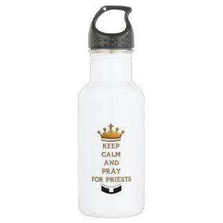 Behalten Sie Ruhe und beten Sie für Priester Trinkflasche