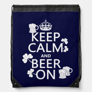 Behalten Sie Ruhe und Bier auf (Iren) (irgendeine Sportbeutel