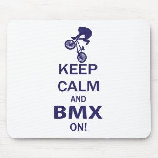 Behalten Sie Ruhe und BMX AN Mousepad