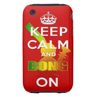 Behalten Sie Ruhe und Bong an iPhone 3 Tough Etuis