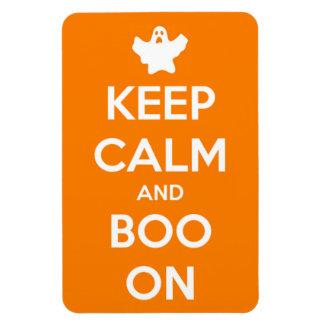 Behalten Sie Ruhe und Boo an Magnet