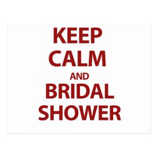 Behalten Sie Ruhe und Brautparty! Postkarten