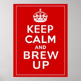 Behalten Sie Ruhe und Brew herauf ~ Briten-Spaß Poster