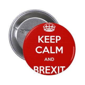 Behalten Sie Ruhe und Brexit Runder Button 5,1 Cm